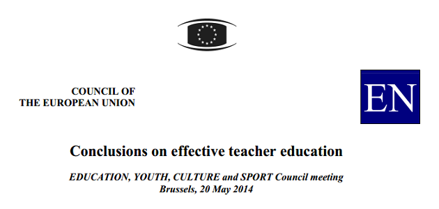 Conclusiones sobre formación docente eficaz (Consejo Unión Europea, mayo 2014)