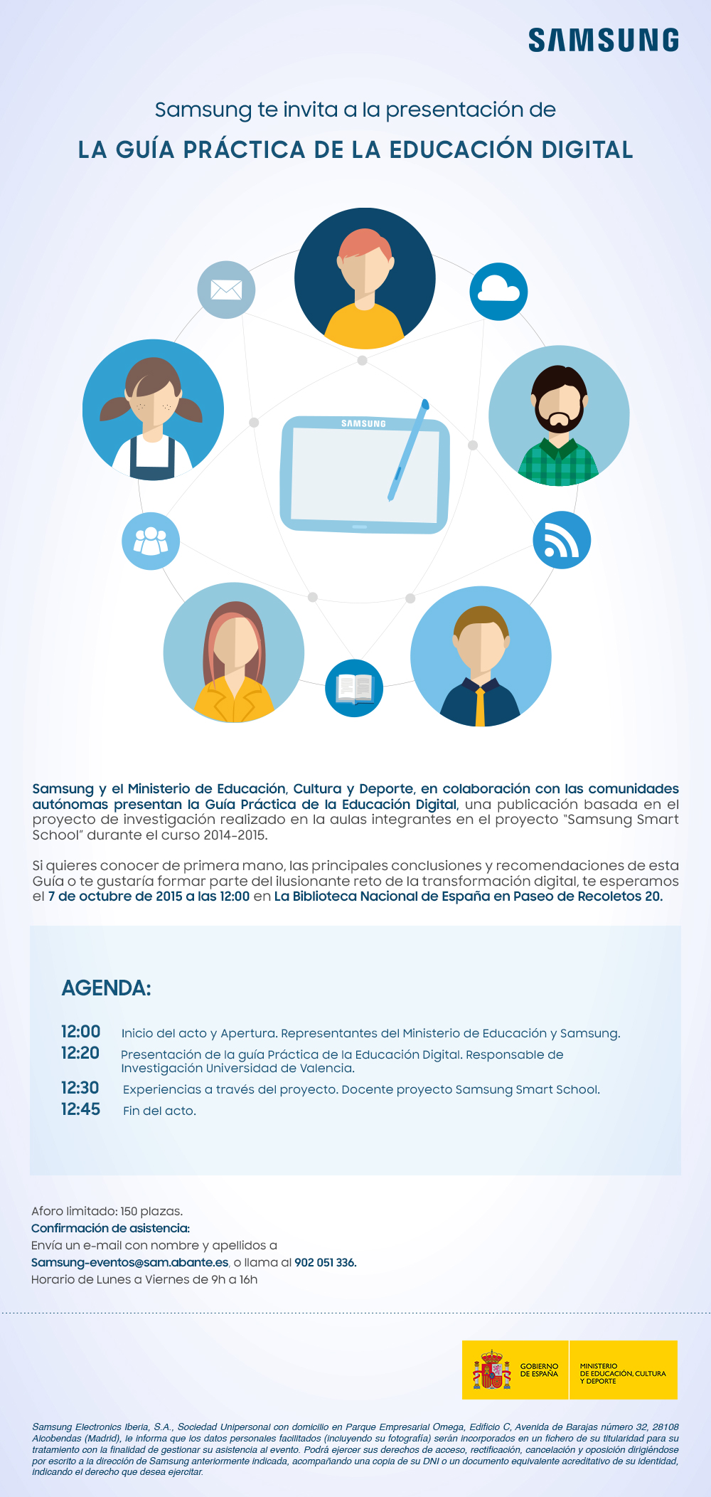 Invitación Samsung 7 octubre  Guía Practica Educación Digital
