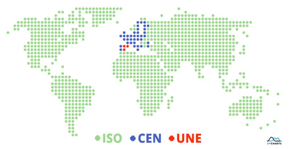 Imagen de un mapa del mundo