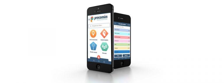 Recursos Educativos Abiertos de Procomún en el teléfono móvil