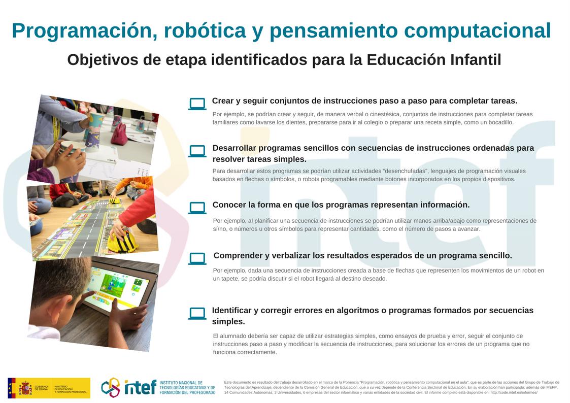 Infografía en la que se detallan los objetivos de etapa para Infantil