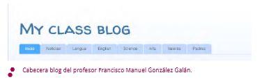 Imagen de la cabecera del blog del Francisco Gonzalez