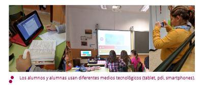 Los alumnos usan diferentes medios tecnológicos.