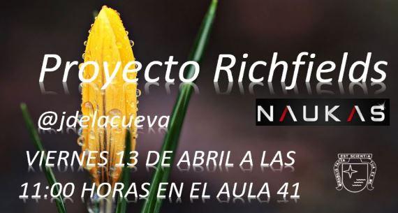 Cartel anunciador del RecreoNaukas 13/04/17.
