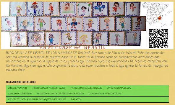 "Imagen de la página principal del blog ""En mi aula de infantil"