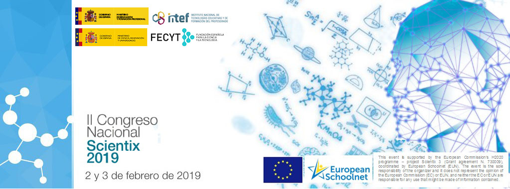 Banner del II Congreso Nacional Scientix 2019