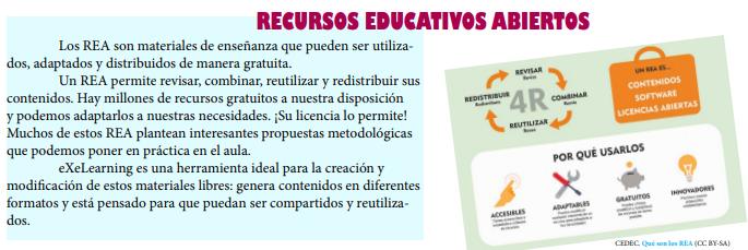 Imagen sobre recursos educativos abiertos