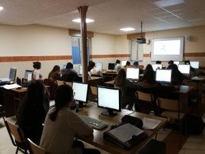 Primera sesión en el aula de informática.