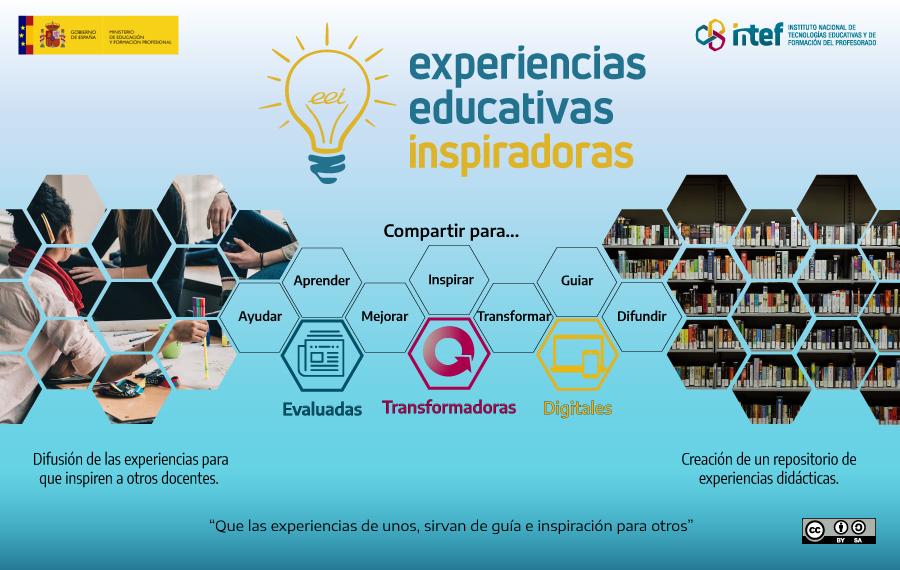 Pantallas de experiencias educativas inspiradoras