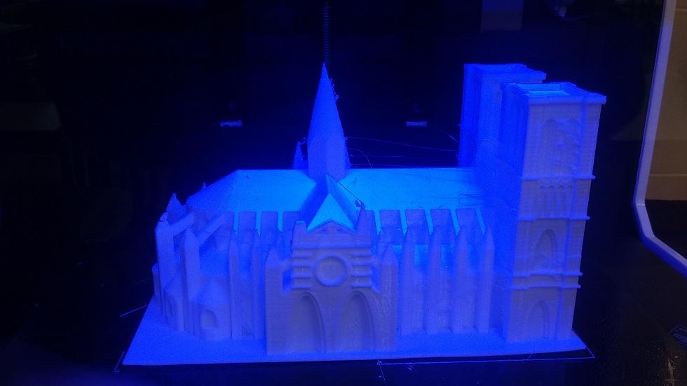 Catedral en proceso de impresión