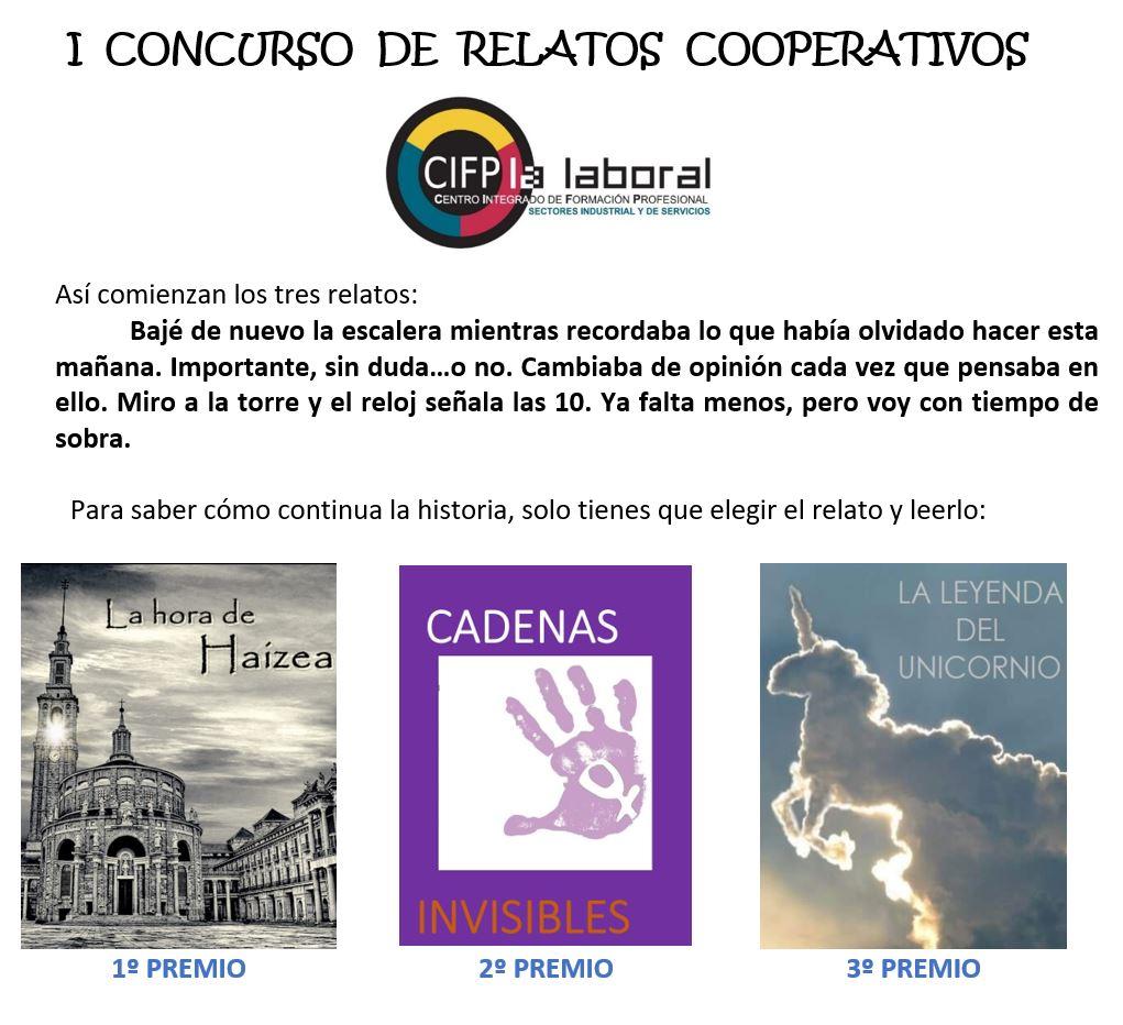 Resultado del primer concurso de relatos cooperativos.