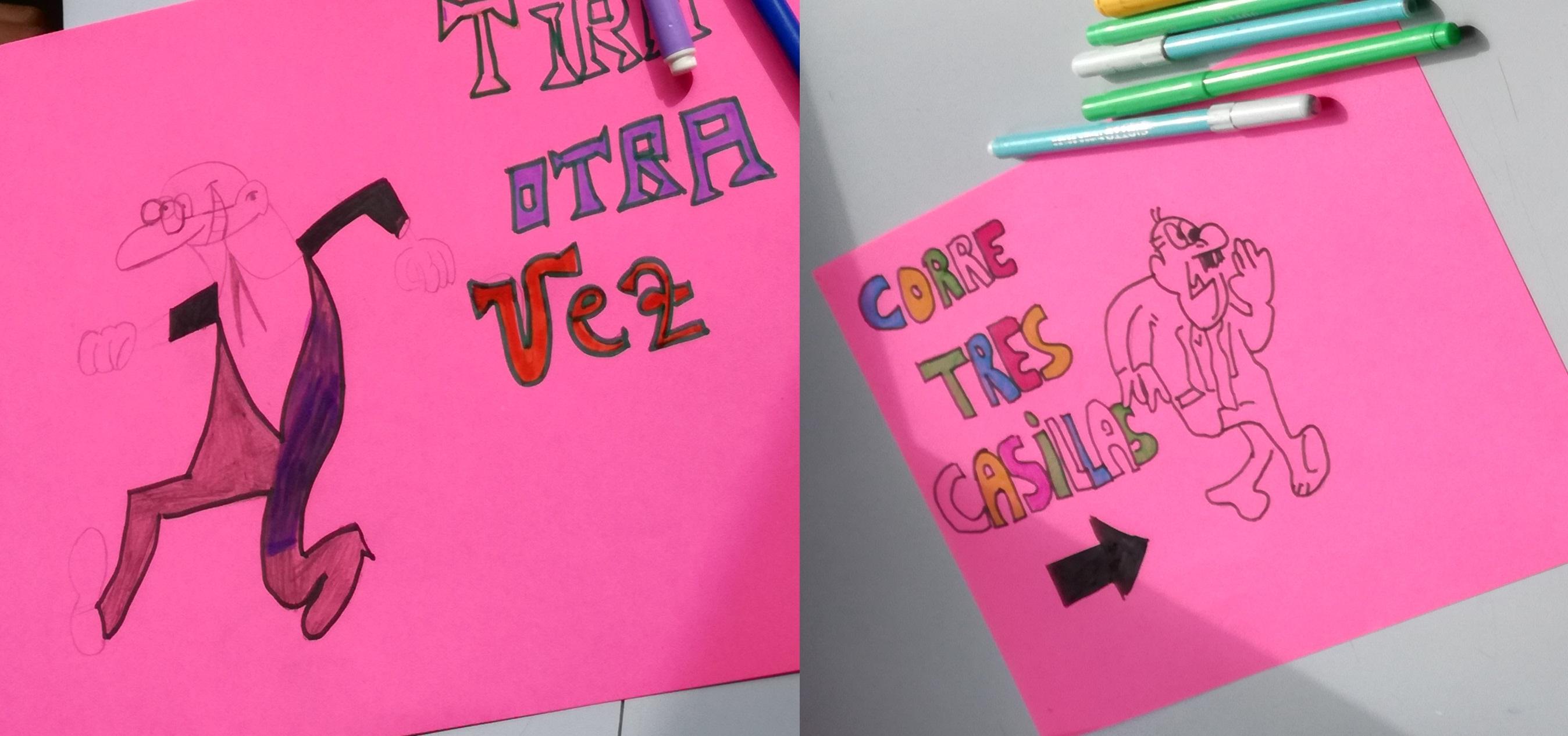 Tarjetas creadas por los alumnos.