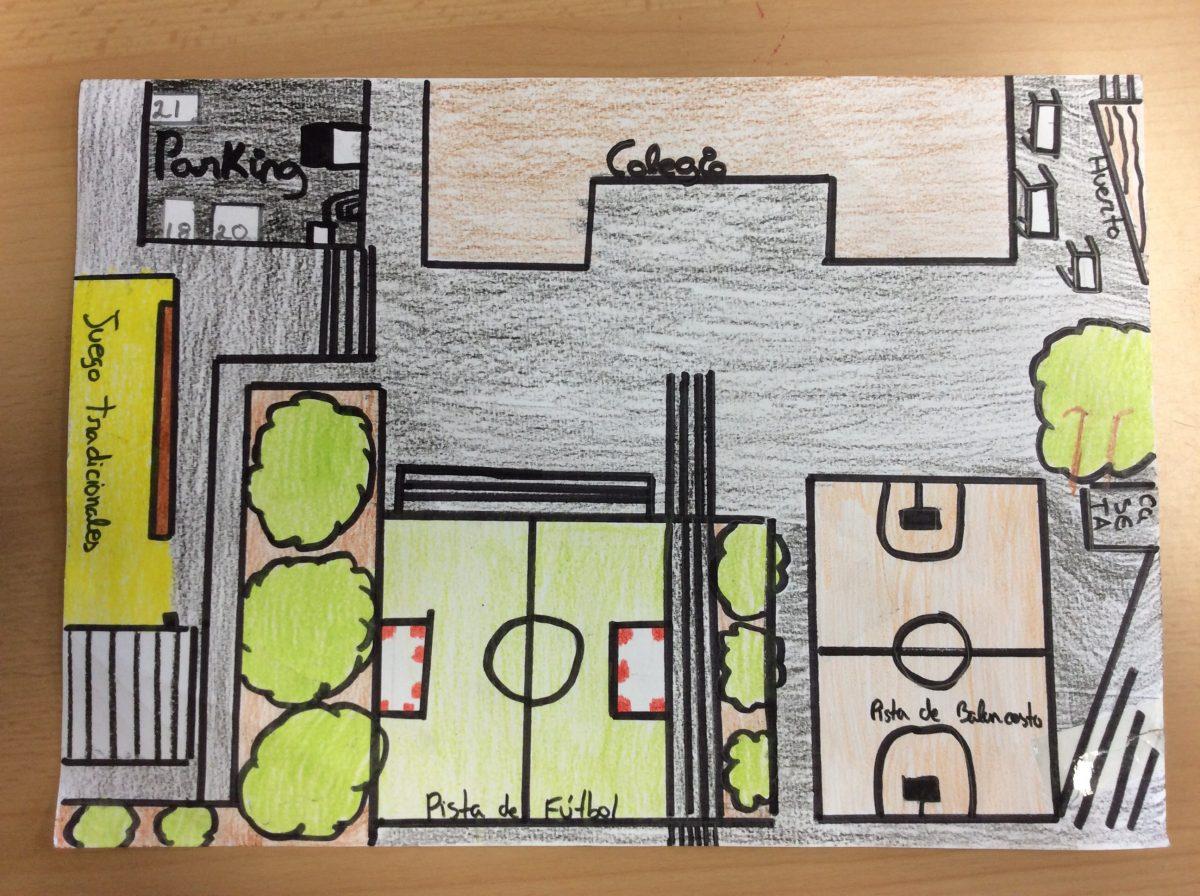 Los alumnos crean sus propios mapas.