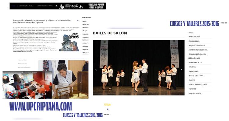 Imagen 16. Sitio web creado con Joomla