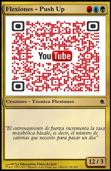 Código QR vinculado a un vídeo tutorial