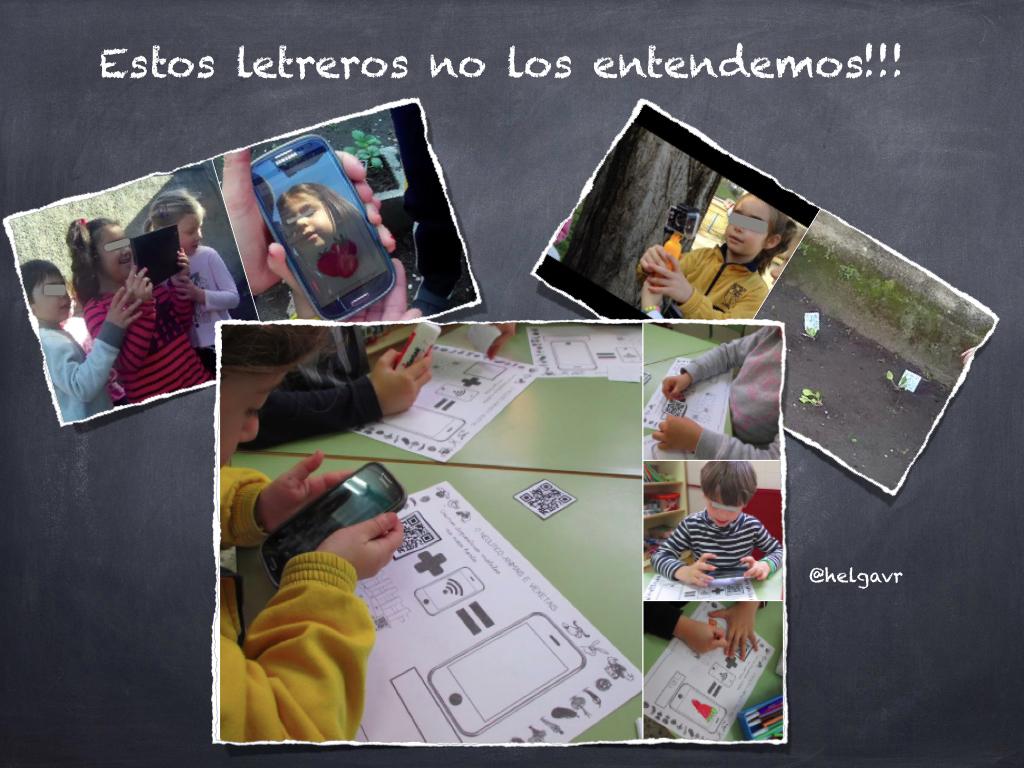 Alumnado registrando el proceso de aprendizaje y accediendo a la realidad aumentada.