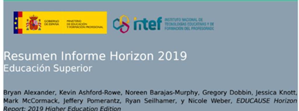 Resumen Informe Horizon 2019