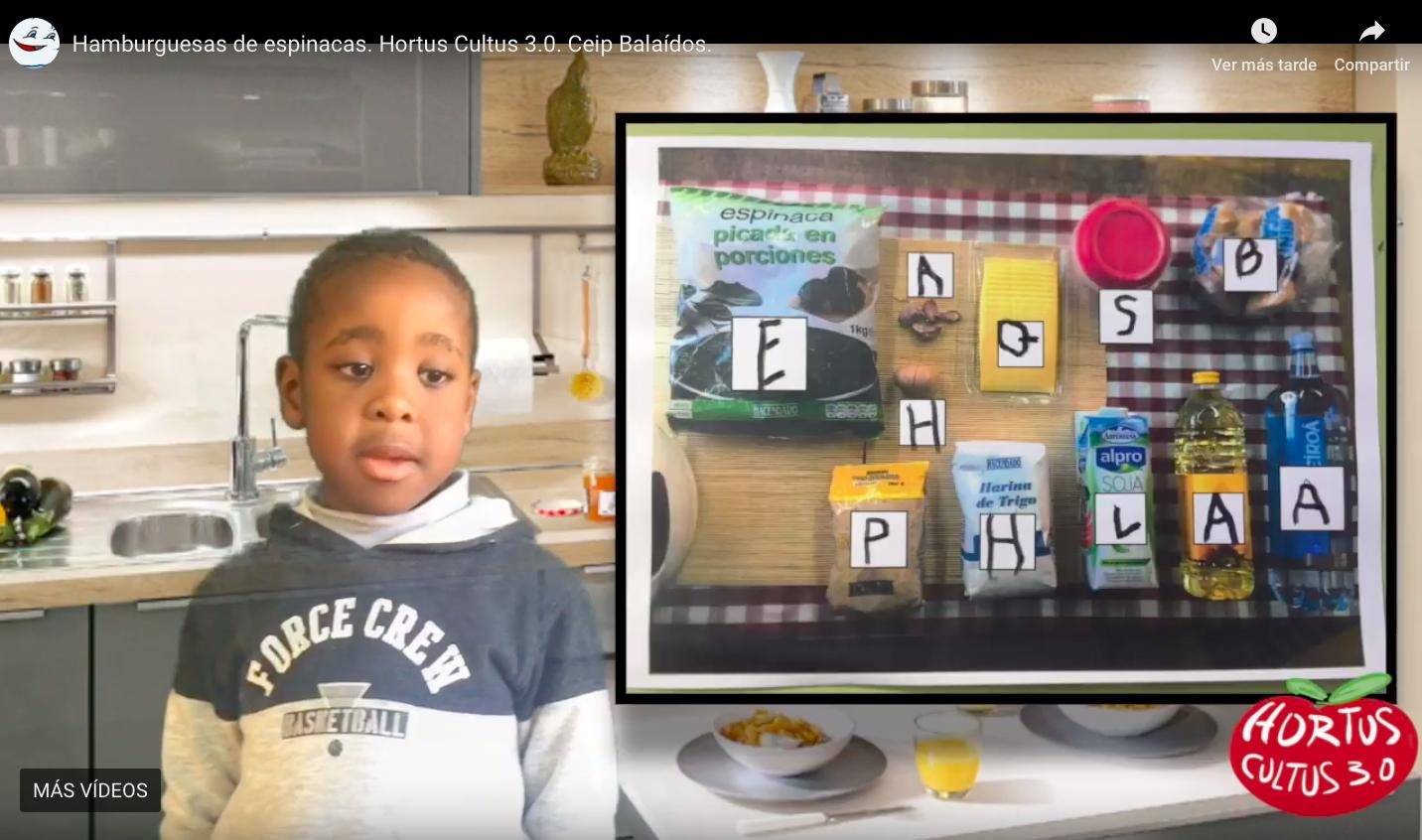 Incluimos el trabajo de las vocales de los ingredientes en la explicación en vídeo de la receta.