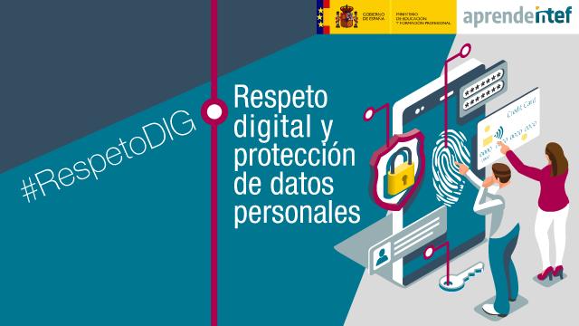 Banner del curso: Respeto digital y protección de datos personales