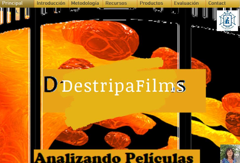 Portada de la web del Proyecto Destripafilms.