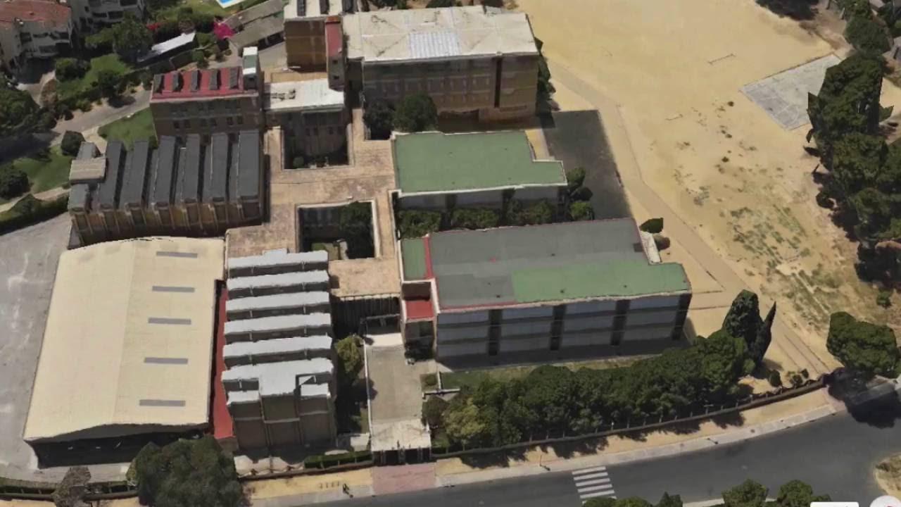 Vista aérea del Colegio Santo Ángel de la Guarda (Sevilla).