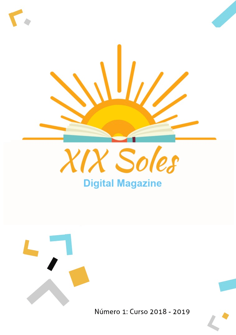 Portada del primer número de la revista XIX Soles.