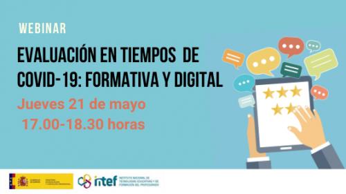 """Webinar """"Evaluación en tiempos de Covid-19: formativa y digital"""""""