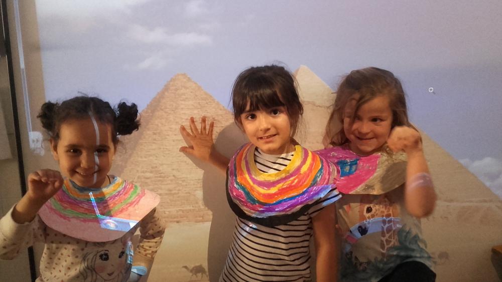 Nos convertimos en dioses egipcios.
