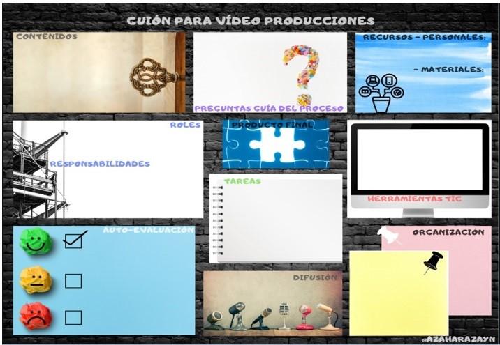 Canvas para videoproducciones realizado por Azahara Zaín
