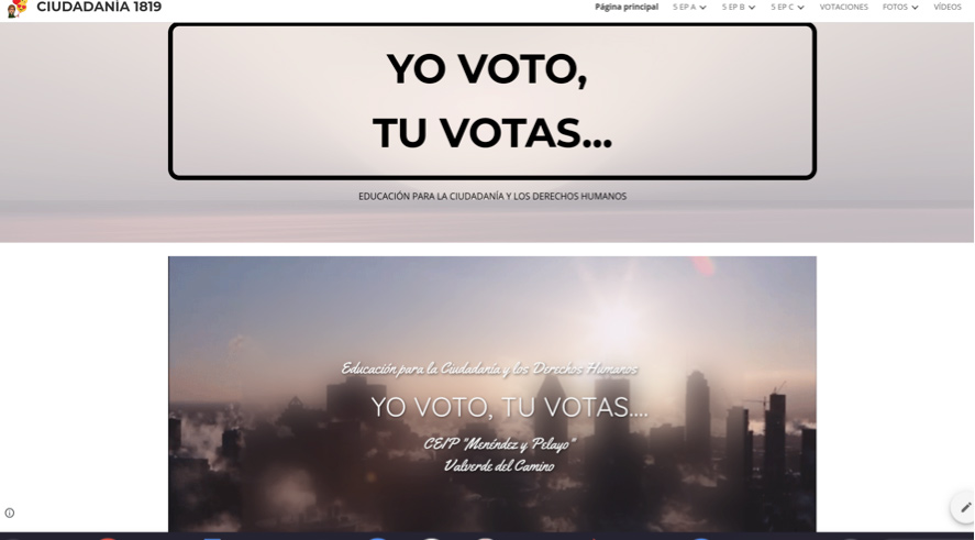 Google Sites como herramienta para trabajo por proyectos. https://sites.google.com/menendezypelayo.es/partidos-ciudadana1819