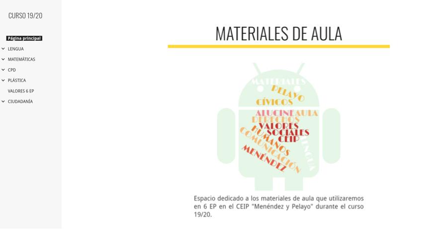 Google Sites para información y comunicación familiar https://sites.google.com/menendezypelayo.es/curso1920