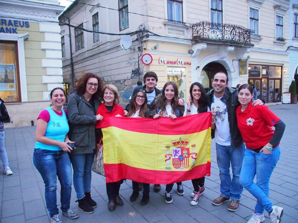 Rumanía: coordinadores y profesorado colaborador.