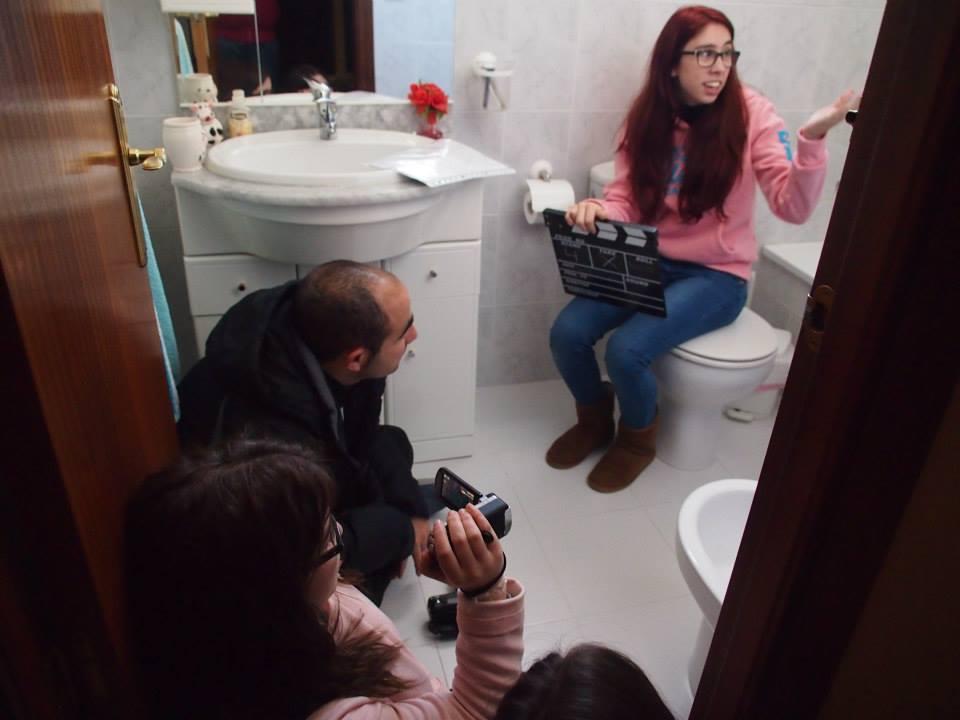 Filmación de cortometrajes nacionales.