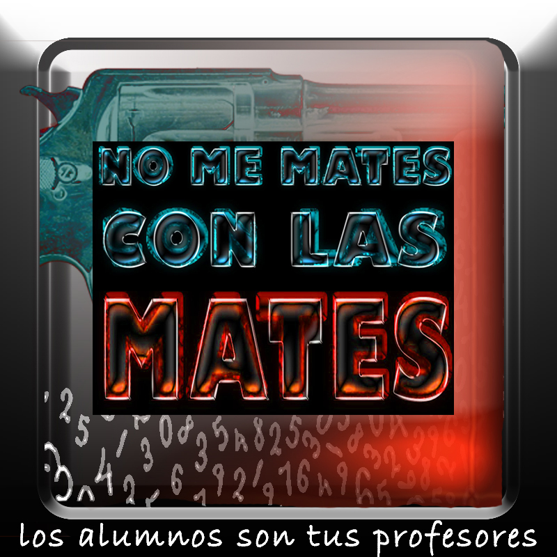 "Logo del canal ""No me mates con las mates""."