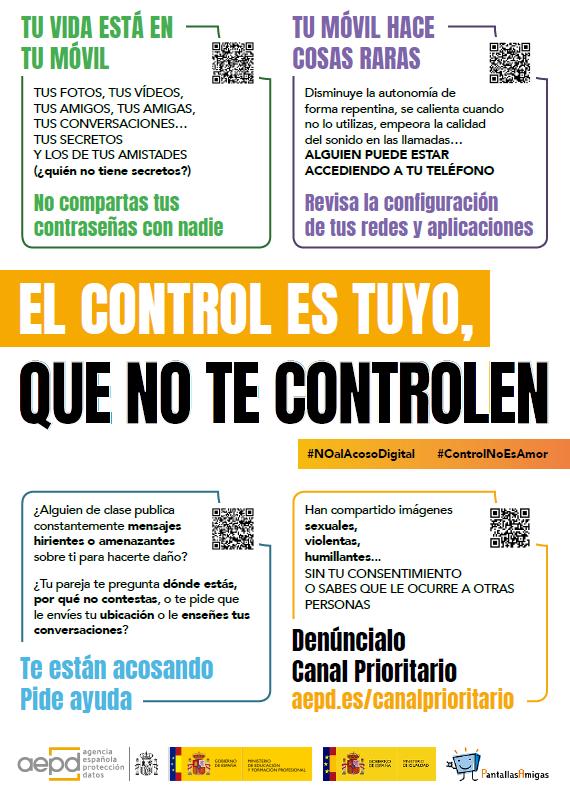 Cartel de la campaña El control es tuyo