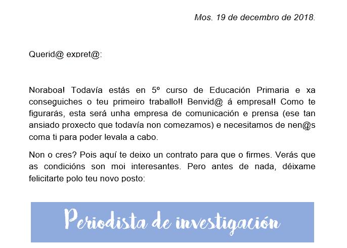 Carta de presentación del proyecto.