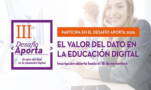"""Desafío Aporta 2020: """"El valor del dato en la educación digital"""""""