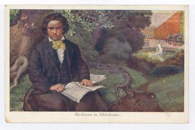 Cuadro en el que aparece Beethoven