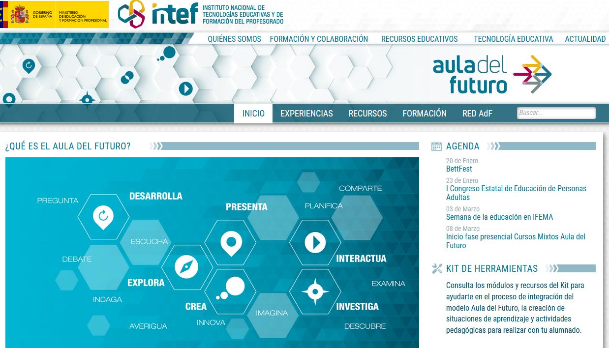 Web del aula del futuro