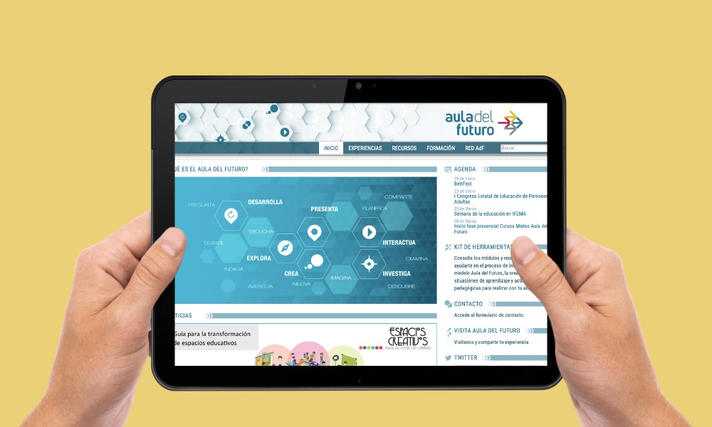 Estrenamos nueva web del Aula del Futuro