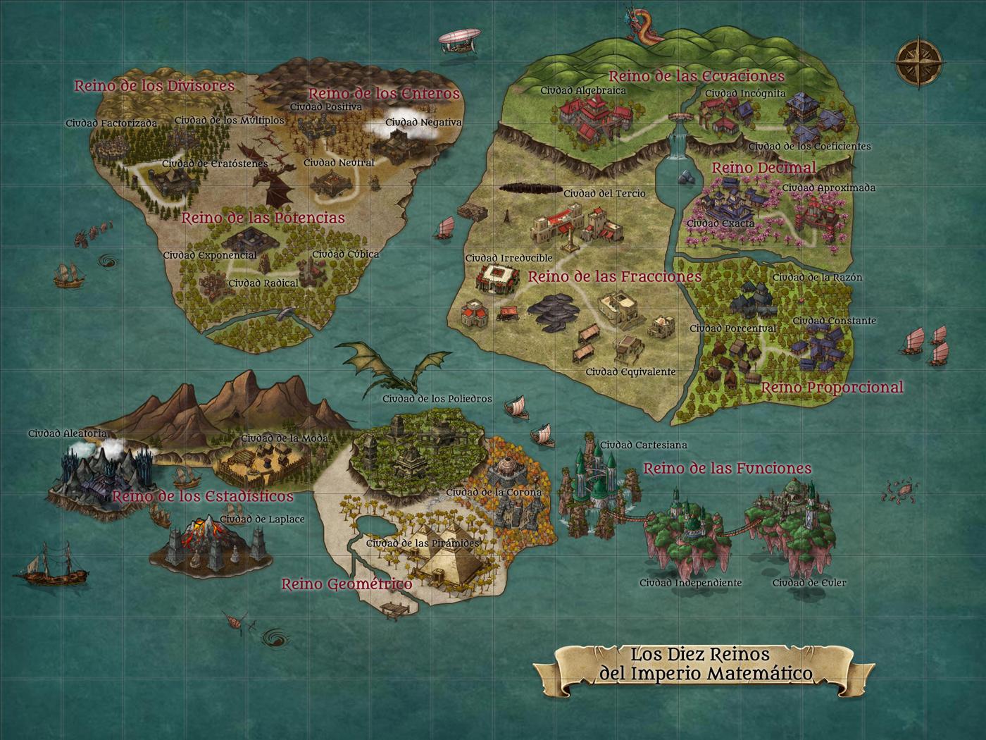 Mapa de la aventura creado con Inkarnate.