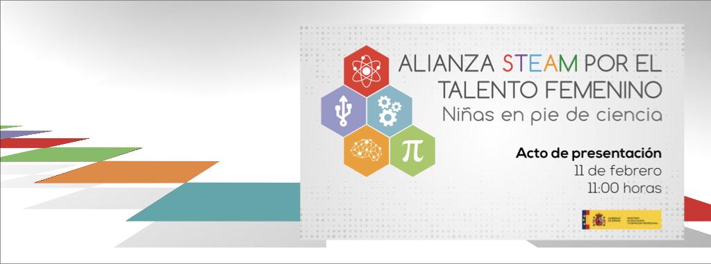 Alianza STEAM por el talento femenino 'Niñas en pie de ciencia'