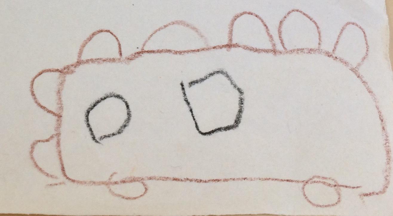 Primer dibujo de niño.