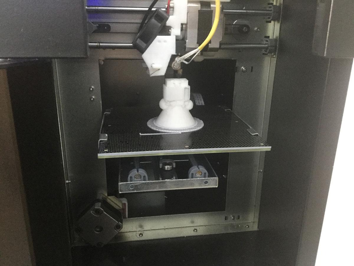 Impresión 3D de uno de nuestros robots.