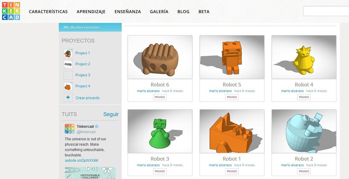 Robots 3D preparados para imprimir.