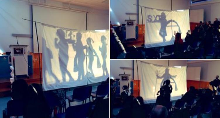 Teatro de sombras chinescas contando la leyenda del Cabezo de la Cruz.