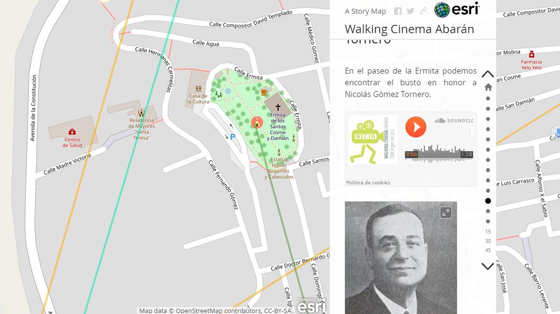 Producto final: Story Map, de ESRI donde está alojado todo el contenido creado por los el alumnado.