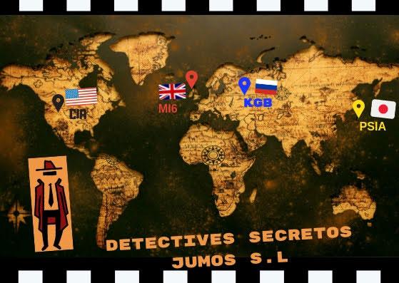 Mapa de nuestras misiones y luchas contra los diferentes servicios secretos mundiales durante el proyecto.