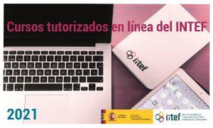 Imagen de los Cursos tutorizados en línea del INTEF (portatil, tablet y cuaderno)