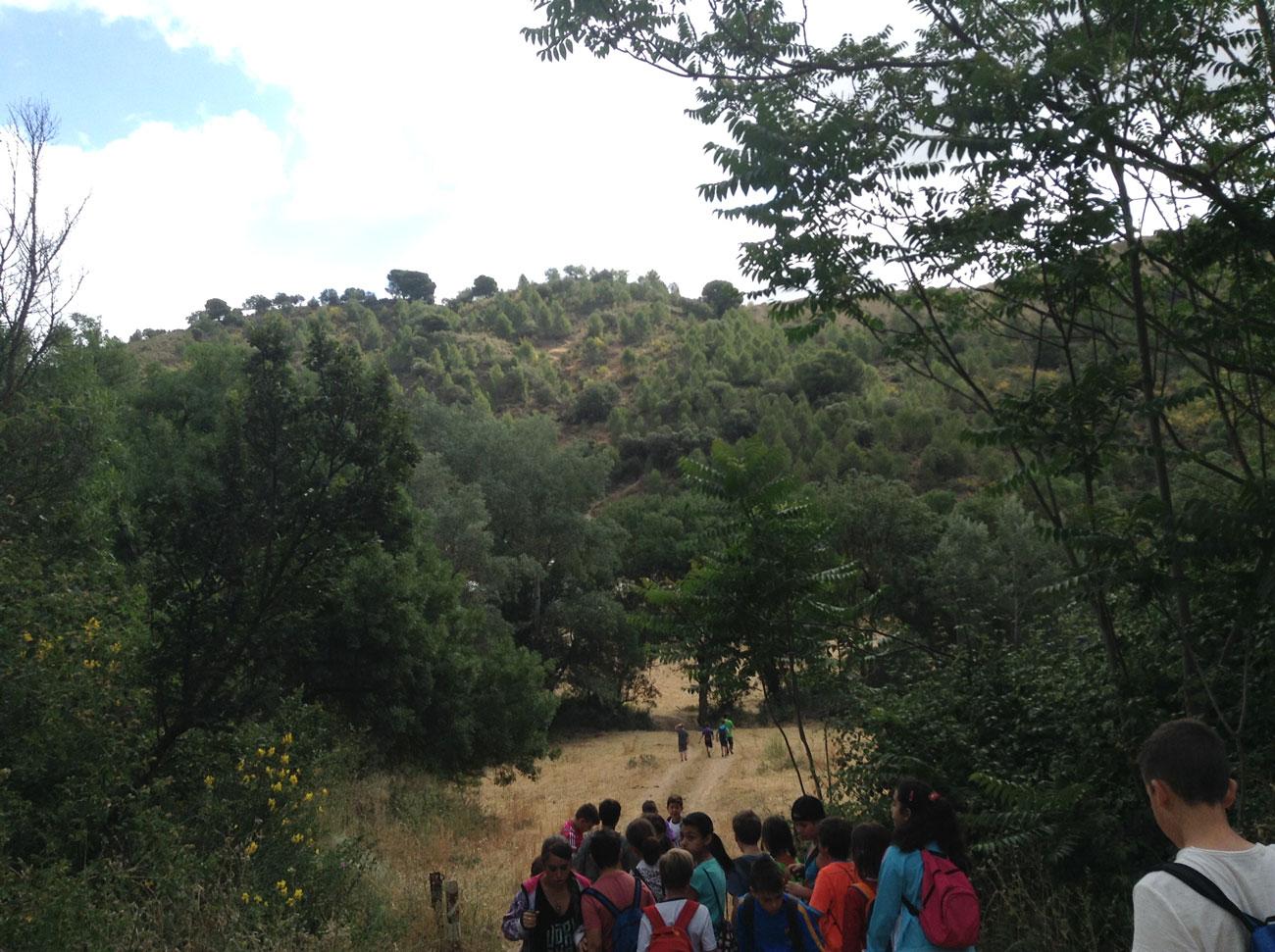 Una de las visitas al paraje realizadas para la búsqueda de información